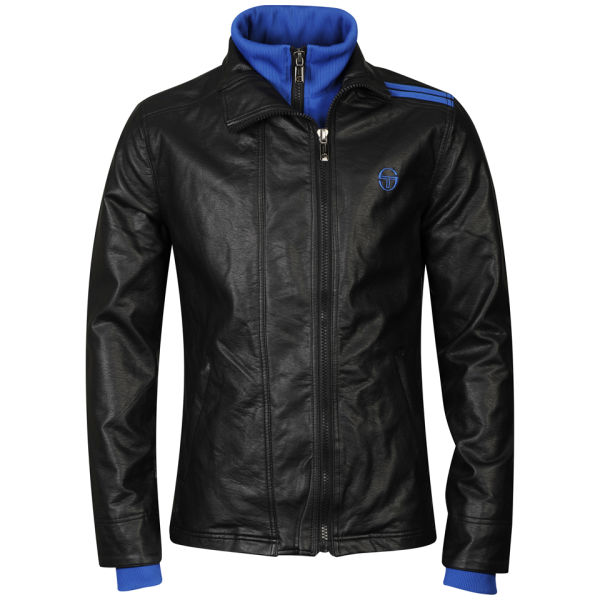 sergio tacchini men 39 s leather look jacket 101 jacket. Black Bedroom Furniture Sets. Home Design Ideas