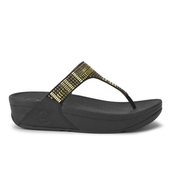 FitFlop Women's Aztek Chada Leather Sandals - Black