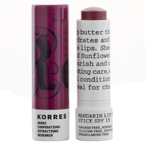 KORRES Mandarin Lip Butter Stick SPF15 - Purple