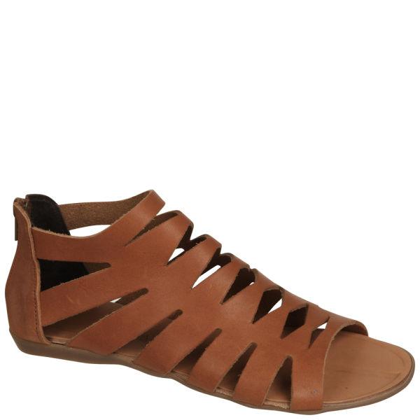 Grafea Women's Gladiator Leather Sandals - Tan