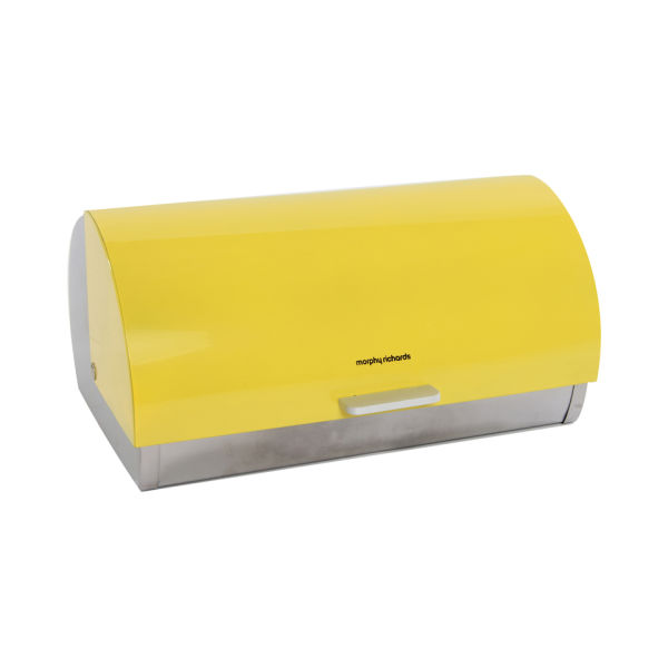morphy richards accents roll top bread bin yellow iwoot. Black Bedroom Furniture Sets. Home Design Ideas