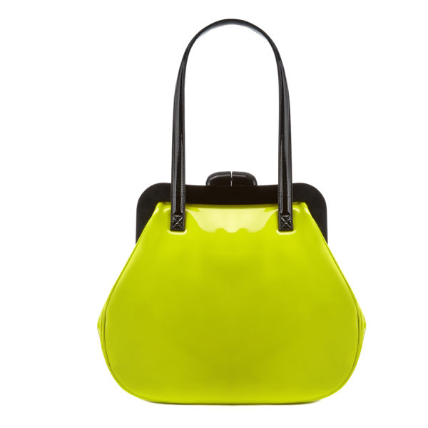 Lulu Guiness Pollyanna Mid Patent Leather Grab Bag - Chartreuse