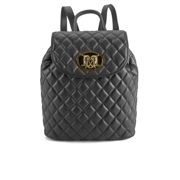 love moschino women 39 s quilted backpack black free uk. Black Bedroom Furniture Sets. Home Design Ideas