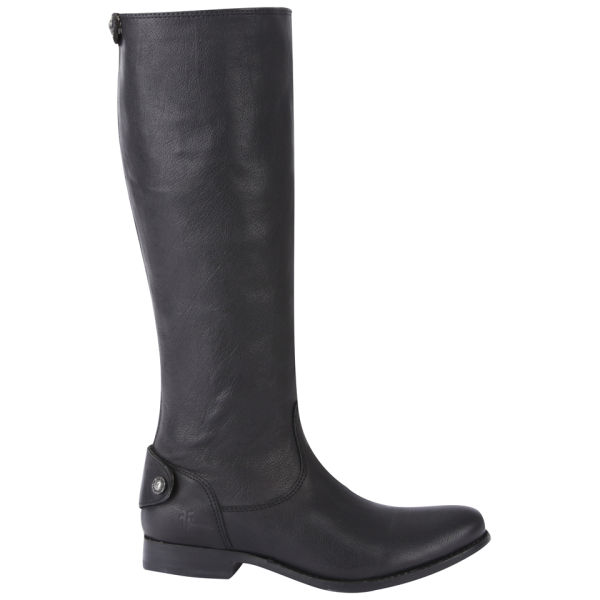 Frye Women's Melissa Button Knee High Leather Boots - Black