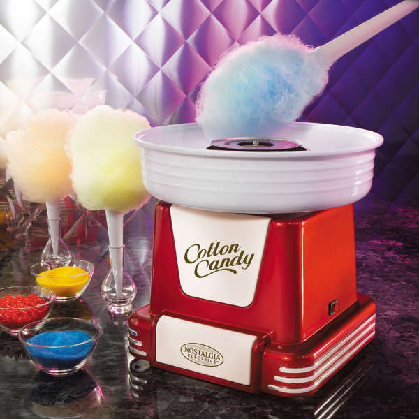 how to make candy floss at home with a machine