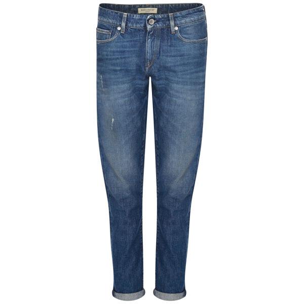 Levi's Made & Crafted Women's Mid Rise Marker Tapered Fresca Worn in Boyfriend Jeans - Medium Indigo