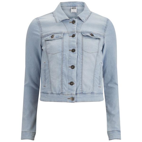 Vero moda women 39 s soya denim jacket light blue denim for Ladies light denim shirt