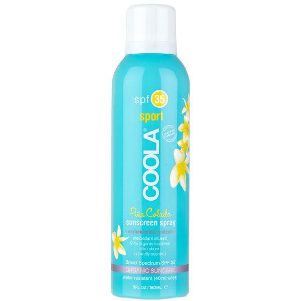 Coola Sport Continuous Spray SPF 35 Pina Colada (6oz)