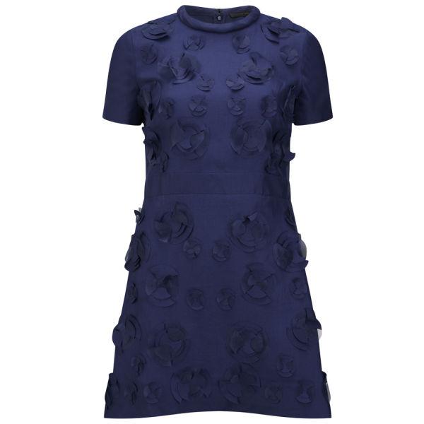 Victoria Beckham Women's Tunic Dress - Navy Silk