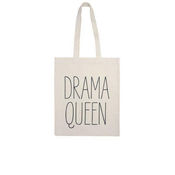 Alphabet Bags 'Drama Queen' Tote Bag - White