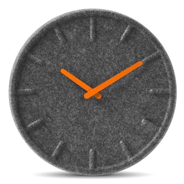 LEFF Amsterdam Felt Clock 35cm - Orange