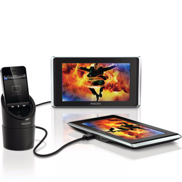 Portable video player for car