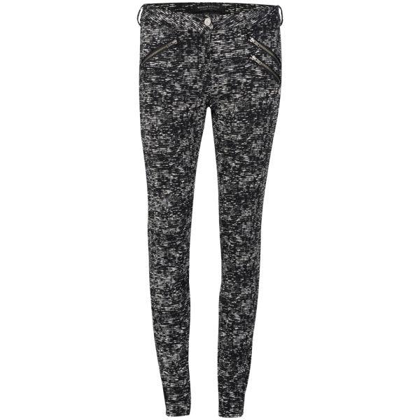 Maison Scotch Women's Zip Pocket Mid Rise Skinny Jeans - Black