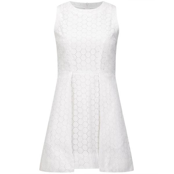 Victoria Beckham Women's Overlap Dress - White Broderie Anglaise