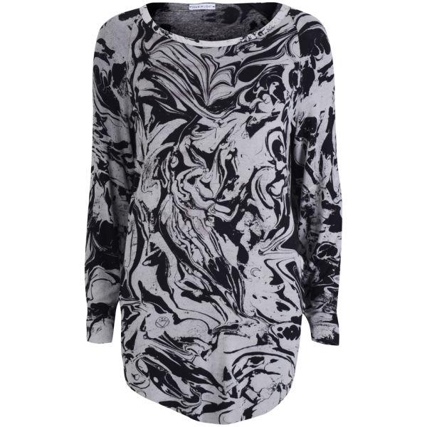 Draw In Light Women's Marble T-Shirt - Bleach On Black