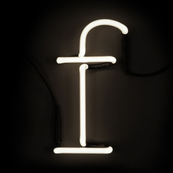 seletti neon wall light letter f iwoot. Black Bedroom Furniture Sets. Home Design Ideas