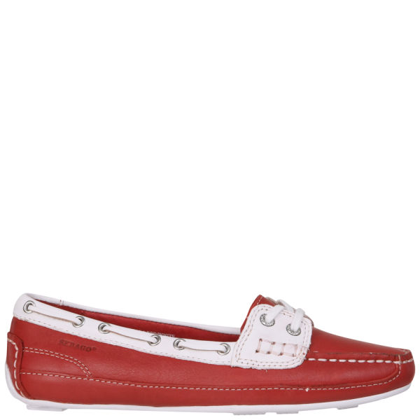 Sebago Women's Bala Moccasin Boat Shoes - Red/White