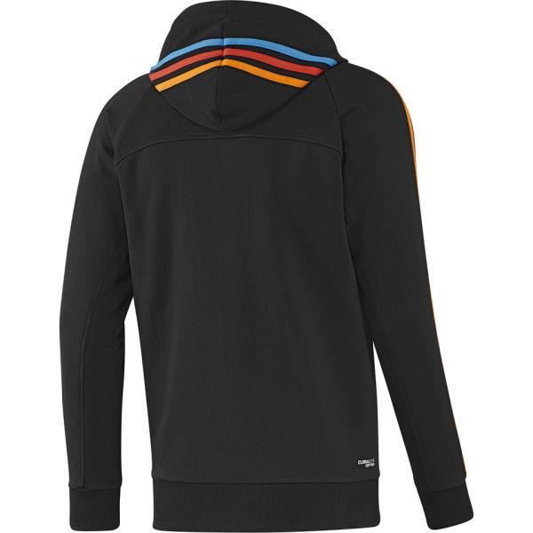 adidas Men's Essential 3 Stripe Full Zip Hoody - Black