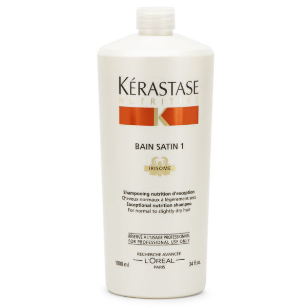 K rastase nutritive bain satin 1 1000ml with pump free for Kerastase bain miroir shine