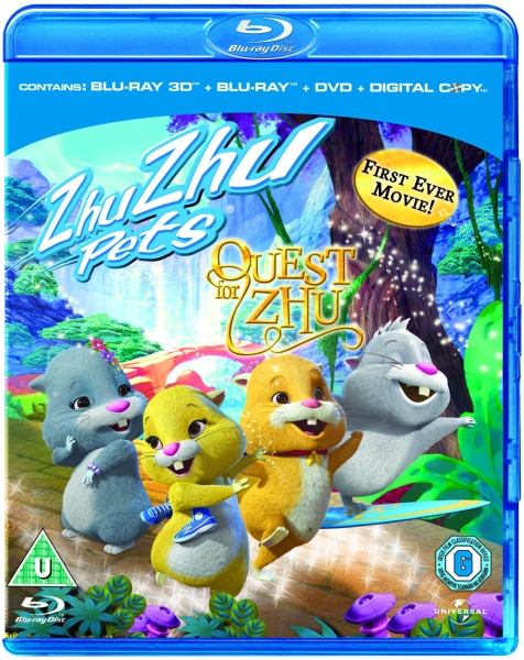 zhu zhu pets quest for zhu 3d 3d blu ray 2d blu ray dvd and digital copy blu ray. Black Bedroom Furniture Sets. Home Design Ideas