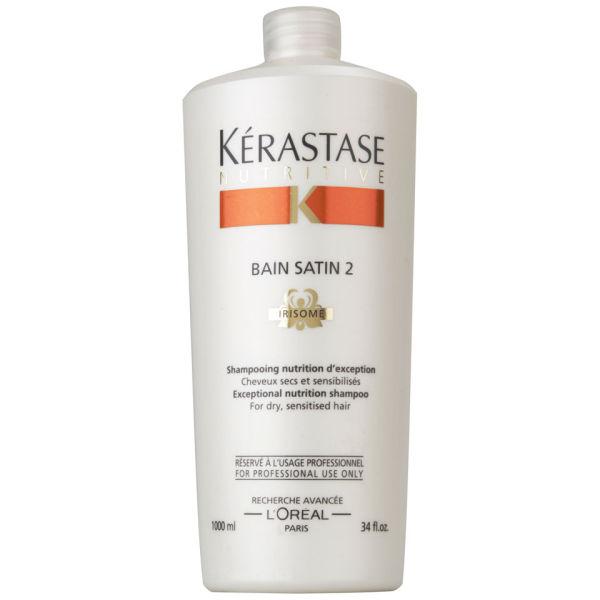 K rastase nutritive bain satin 2 1000ml with pump free for Kerastase reflection bain miroir 2 shampoo