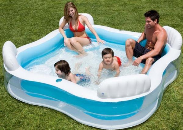 Family lounge paddling pool toys for Large paddling pool