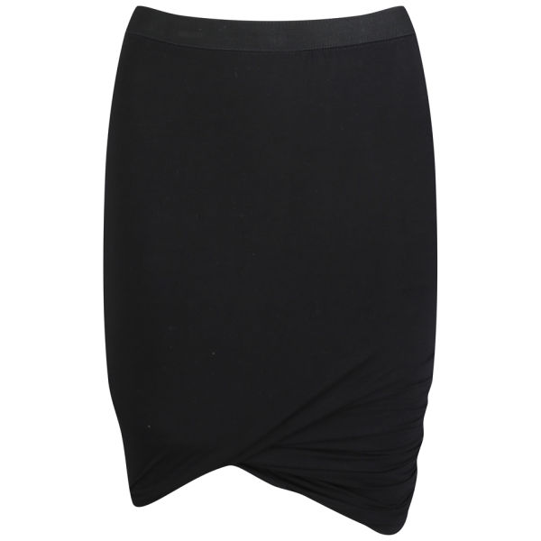 T by Alexander Wang Women's Micro Modal Spandex Mini Skirt - Black