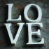 Nkuku Distressed Mango Wood Letters - Distressed White - C (15cm): Image 1