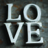 Nkuku Distressed Mango Wood Letters - Distressed White - H (15cm): Image 1