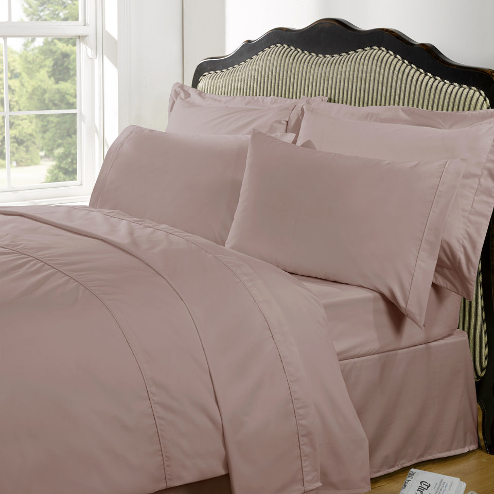 Highams 100 Egyptian Cotton Plain Dyed Duvet Cover And
