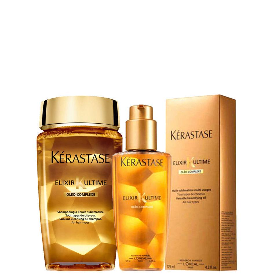 K rastase elixir ultime huile lavante bain 250ml and oil for Kerastase bain miroir shine