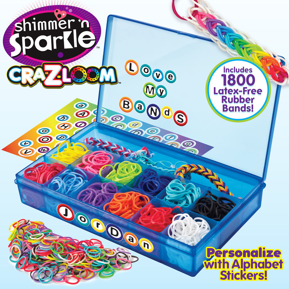 Cra z loom ultimate collector 39 s case 1 800 bands toys for Four man rubber life craft