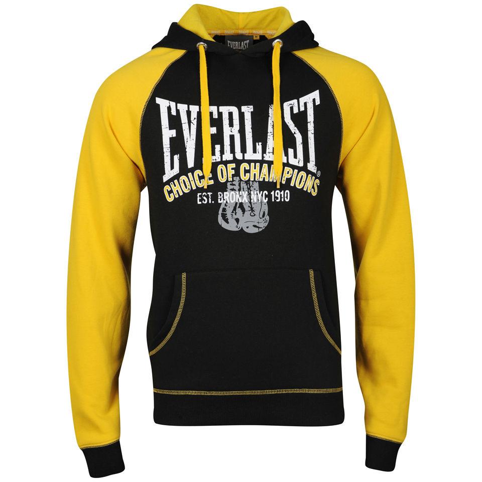 Everlast Mens Brushback Sweatshirt Black Yellow Mens