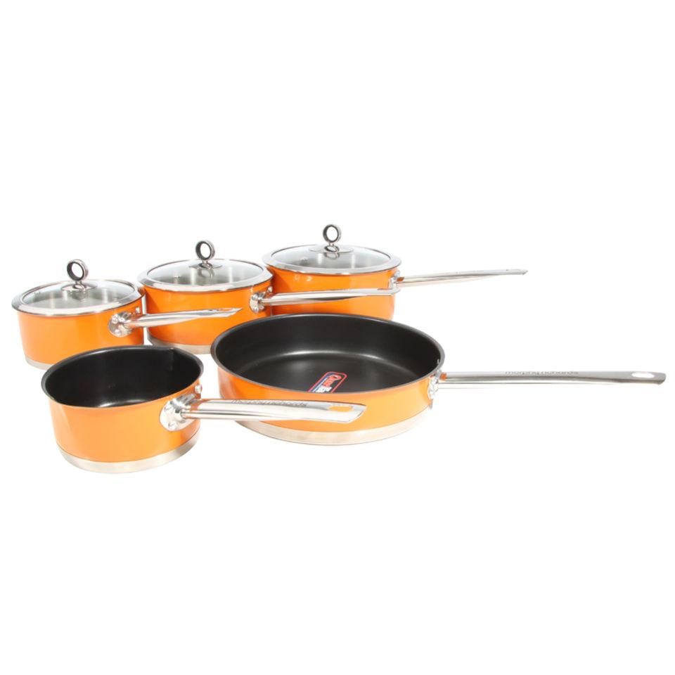 Kitchen Set Orange: Morphy Richards Accents 5 Piece Pan Set - Orange