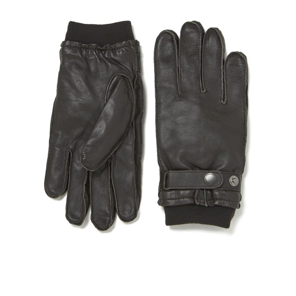 French Connection Mens Leather Gloves Brown Clothing TheHutcom