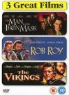 Action Triple - Man In The Iron Mask/Rob Roy/The Vikings