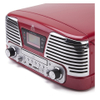 GPO Retro Memphis Turntable 4-in-1 Music System with Built in CD and FM Radio - Red: Image 5