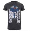 Star Wars Men's R2-D2 Text Body T-Shirt - Charcoal: Image 1