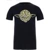 Star Wars Men's Yoda Text Head T-Shirt - Black: Image 1