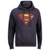 DC Comics Men's Superman Distress Logo Hoody - Petrol Blue: Image 1