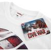 Marvel Men's Captain America Civil War Smoke Sheild T-Shirt - White: Image 3