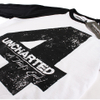 Uncharted 4 Men's Distressed 4 Long Sleeve Raglan Top - White/Black: Image 2