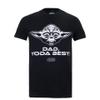 Star Wars Men's Yoda Best Dad T-Shirt - Black: Image 1