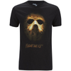 Friday the 13th Men's Mask T-Shirt - Black: Image 1