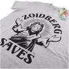 Futurama Men's Zoidberg Saves T-Shirt - Grey Marl: Image 2