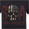 Sons of Anarchy Men's Flag Skull T-Shirt - Black: Image 5