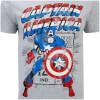 Marvel Men's Captain America Retro T-Shirt - Sports Green: Image 5