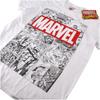 Marvel Men's Mono Comic T-Shirt - White: Image 2