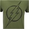 DC Comics Men's The Flash Line Logo T-Shirt - Military Green: Image 5