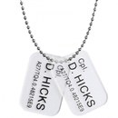 Hollywood Collectibles Aliens Colonial Marine Cpl D. Hicks Dog Tags